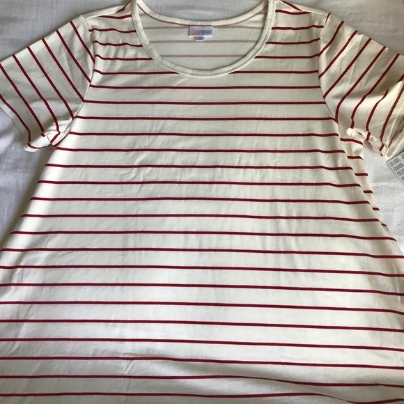 c38b58b3bf63 LuLaRoe Dresses   Jessie Dress White With Red Stripes Nwt Xl   Poshmark